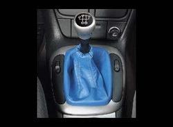 Комплект манжеты КПП и манжеты ручного тормоза Opel Corsa B из синей кожи