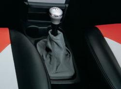 Комплект манжеты КПП и манжеты ручного тормоза Opel Meriva A из темно-серой кожи