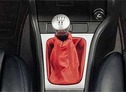 Комплект манжеты КПП и манжеты ручного тормоза Opel Vectra B из красной кожи