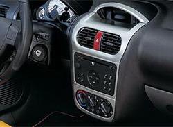 Комплект отделки приборной панели Opel Corsa C, Opel Tigra в стиле Alu-Look для машин не оснащенных системой климат-контроль и системой навигации