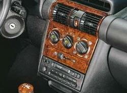 Комплект отделки приборной панели и салона Opel Corsa B, Opel Tigra в стиле Wurzelholz-Look для машин без отопления сидений, с электрозеркалами и без электроподъемников стекол