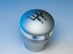 Ручка КПП Opel Astra G, Opel Omega B, Opel Vectra B, Opel Zafira A в стиле Alu-Look с алюминиевым ободом