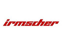 Наклейка Irmscher красного цвета для автомобилей Opel