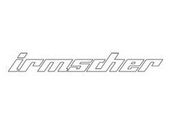 Наклейка Irmscher белого цвета для автомобилей Opel