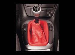 Комплект манжеты КПП и манжеты ручного тормоза Opel Corsa B из красной кожи