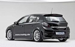 Обвес на Opel Astra H 5-ти дверная от компании Mattig для автомобилей с выхлопом на две стороны