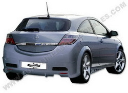 Бампер задний Opel Astra H в стиле Sport