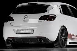 Накладка на бампер задний Opel Astra J Хэтчбек (дорестайлинг) с вырезом слева и справа