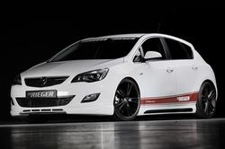 Обвес на Opel Astra J 5-ти дверная от компании Rieger для машин с глушителем слева