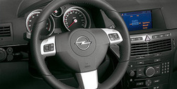 Руль для Opel Astra H, Opel Zafira B в стиле OPC Line с кожаными вставками