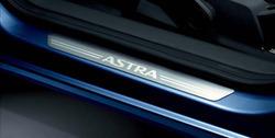 Накладки на пороги Opel Astra H в стиле OPC Line