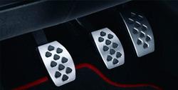 Накладки на педали Opel Corsa D в стиле OPC Line из нержавеющей стали (для РКПП)