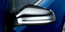 Накладки на зеркала бокового вида для Opel Astra H, Opel Zafira B хромированные в стиле OPC Line