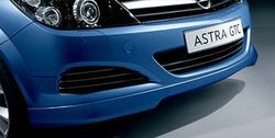 Накладка на бампер передний Opel Astra H Хэтчбек, Универсал (рестайлинг) в стиле OPC Line