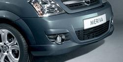 Накладка на бампер передний Opel Meriva A в стиле OPC Line