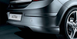 Накладка на бампер задний Opel Astra H Хэтчбек в стиле OPC Line