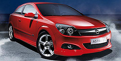 Обвес на Opel Astra H GTC от компании Opel в стиле OPC Line I