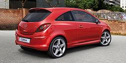 Обвес на Opel Corsa D 3-дверная (дорестайлинг) от компании Opel в стиле OPC Line I без выреза в бампере под глушитель