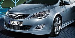 Обвес на Opel Astra J Хэтчбек (дорестайлинг) от компании Opel в стиле OPC Line I без выреза в бампере под глушитель