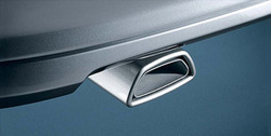 Глушитель Opel Astra H слева с одной насадкой в стиле OPC Line к мотору 2,0 кроме OPC/GSI