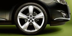 Диски литые R19 легкосплавные серебристые дизайн 5 лучей для Opel Astra J c бензиновыми двигателями 1,4 л, 1,4T л и 1,6 л, дизельными двигателями 1,3 л