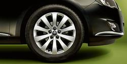 Диски литые R17 легкосплавные серебристые дизайн 10 лучей для Opel Astra J, Opel Zafira Tourer c бензиновыми двигателями 1,6T л, дизельными двигателями 1,7 л и 2,0 л