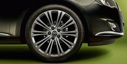 Диски литые R19 легкосплавные с покрытием Titan gloss дизайн 10 двойных лучей для Opel Astra J c бензиновыми двигателями 1,4 л, 1,4T л и 1,6 л, дизельными двигателями 1,3 л