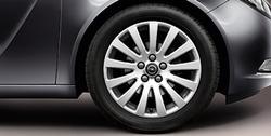 Диски литые R18 легкосплавные серебристые дизайн 13 лучей для Opel Insignia