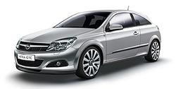 Боковые молдинги Opel Astra H GTC серебристые