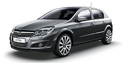 Боковые молдинги Opel Astra H Хэтчбек серые