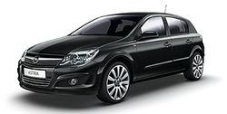 Боковые молдинги Opel Astra H Хэтчбек черные