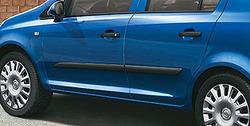 Боковые молдинги Opel Corsa D черные
