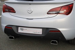 Глушитель Opel Astra J Sports Tourer на две стороны с двумя насадками ко всем двигателям