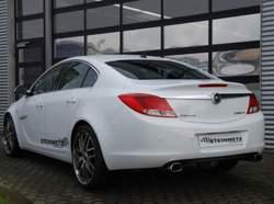 Глушитель Opel Insignia Хэтчбек, Седан на две стороны с двумя насадками к двигателям 1,6i Turbo 132kW и 2,0i Turbo 162kW