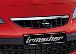 Решетка радиатора Opel Astra J GTC с планкой в дизайне Alu-Optik