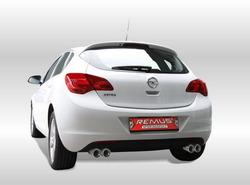Глушитель Opel Astra J на две стороны с двумя насадками