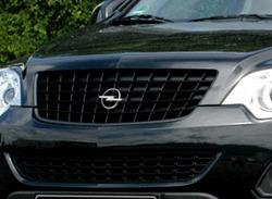 Решетка радиатора Opel Antara (рестайлинг) черная