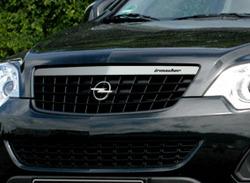 Решетка радиатора Opel Antara (рестайлинг) черная в дизайне Alu-Optik