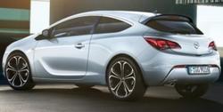Спойлер на крышу Opel Astra J GTC пакет OPC Line I