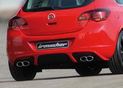 Глушитель Opel Astra J Хэтчбек, GTC на две стороны с четырьмя насадками к двигателям 1,4 Turbo (один выхлопной канал)