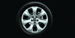 Диски литые R17 легкосплавные серебристые дизайн 7 лучей для Opel Insignia