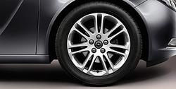 Диски литые R18 легкосплавные серебристые дизайн 7 V-образных лучей для Opel Insignia