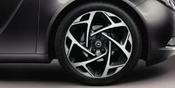 Диски литые R19 легкосплавные с титановой полировкой дизайн 5 Y-образных лучей для Opel Insignia