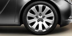 Диски литые R19 легкосплавные серебристые дизайн 10 лучей для Opel Insignia
