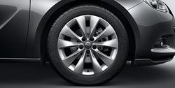 Диски литые R18 легкосплавные дизайн 5 двойных лучей для Opel Astra J GTC