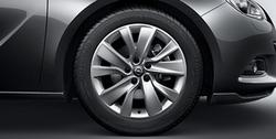 Диски литые R18 легкосплавные дизайн 5 двойных лучей Sterling silver для Opel Astra J GTC
