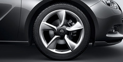 Диски литые R19 легкосплавные дизайн 5 лучей Sterling silver для Opel Astra J GTC