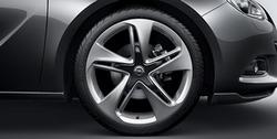 Диски литые R20 легкосплавные дизайн 5 двойных лучей для Opel Astra J GTC