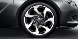 Диски литые R20 легкосплавные дизайн 7 роторных лучей Bi-colour для Opel Astra J GTC