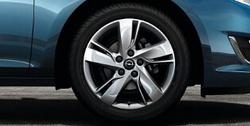 Диски литые R17 легкосплавные серебристые дизайн 5 двойных лучей для Opel Astra J c бензиновыми двигателями 1,4 л, 1,4T л и 1,6 л, дизельными двигателями 1,3 л